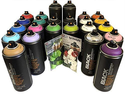 Montana Black - Set di 24 bombolette spray da 400 ml