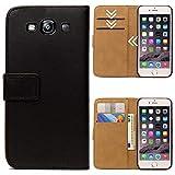 Roar Handytasche für Samsung Galaxy S3 / S3 Neo, Flipcase Tasche Schutzhülle Handyhülle für Samsung Galaxy S3 / S3 Neo Bookcase Wallet mit Magnet, Schwarz