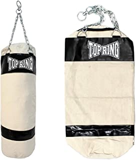 Top Ring Heavy Duty Empty Canvas Boxing Punching Bag Bag Chains MMA Training