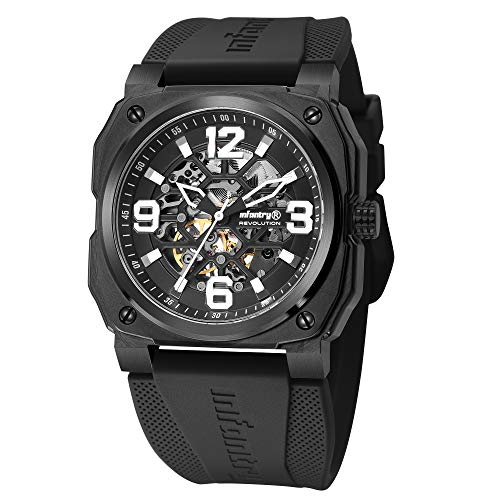 Automatik Uhr Herren Schwarz Mechanische Armbanduhr Männer Uhren Wasserdicht Militär Outdoor Sportuhr Armbanduhren by Infantry