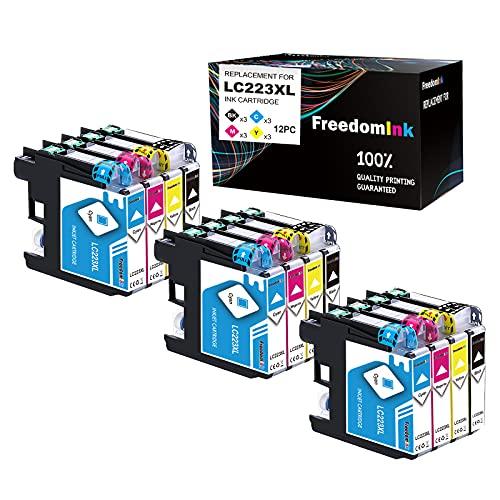 12 FreedomInk LC223 Ersatz für Brother LC 223 LC-223 XL Druckerpatronen Kompatibel für Brother DCP-J562DW J4120DW MFC-J5320DW J880DW J5620DW J5625DW J680DW J4625DW J5720DW J4420DW J4620DW J480DW J5600