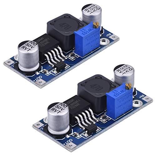 HiLetgo 2pcs XL6009 4A DC-DC Adjustable Step-up Boost Power Module 3-32V Input 5-35V Output Replace LM2577