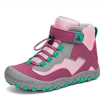 Mishansha Kids Outdoor Hiking Boots Girls Ankle Booties Trekking Walking Shoes A-Purple 13 Little Kid
