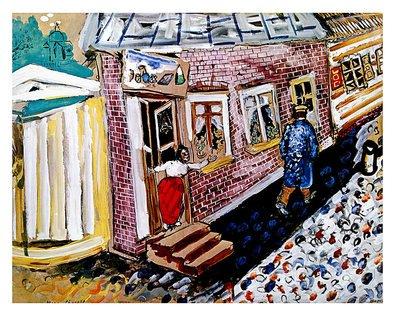 Marc Chagall Poster Kunstdruck Bild Die Strasse 53x66cm