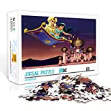 Póster puzzles 1000 piezas Póster de dibujos animados: Aladdin Relax Jigsaw Puzzle 29.5x19.5inches Juguetes de entretenimiento Regalo para la decoración de la pared del hogar