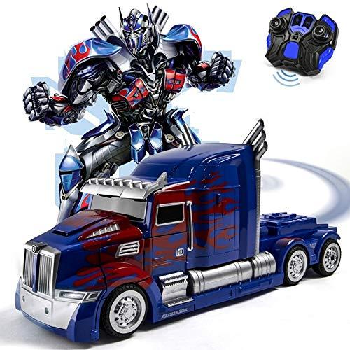 MUMUMI Optimus Prime Autobot avispón de Control Remoto con un botón de Control por Voz Deformación Inducción Modelo Robot Boy Transformers de Juguete niños y Regalo