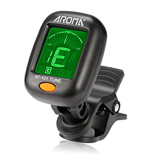 Guitar Tuner, Meeland Mini Clip-on Guitar Tuner for Guitar/Bass/Ukulele and Violin/Anti-Interference Color LCD Display/Battery Included/Auto Power Off