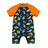 BONVERANO(TM Kids UPF 50+ Sun Protection S/S One Piece Zip Sun Suit (Shark3, 24-36 Months)