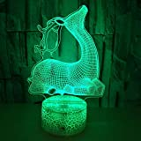 New Deer 3d lamp colorful touch charging Led visual gift decoration 3d Small table lamp Christmas decoration gift for kids room