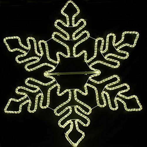 Novelty Lights 60″ Christmas Snowflake LED Rope Light Sculpture, Warm White