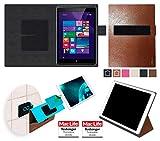 Hülle für Hewlett Packard Pro Tablet 608 Tasche Cover Hülle Bumper   in Braun Leder   Testsieger