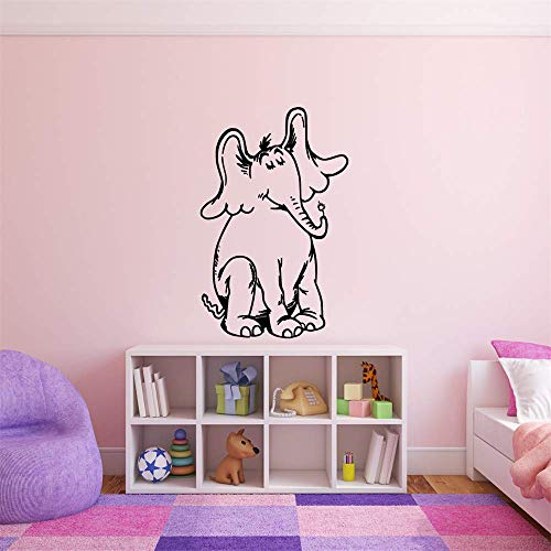 Vinly Art Decal Words Quotes Horton from Hears A Who Childrens Book Character Vinyl Wall Decal for Nursery Kids Room Bedroom