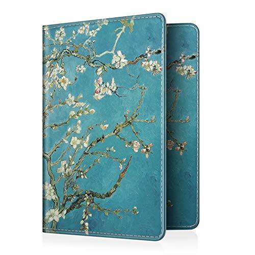 Fintie Passport Holder Travel Wallet RFID Blocking PU Leather Card Case Cover, Blossom