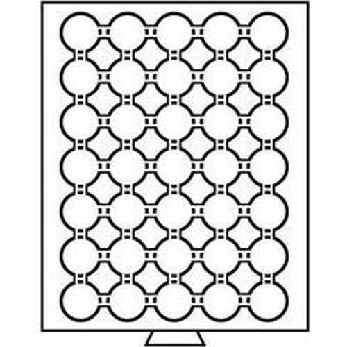 Leuchtturm 325360 MB Münzbox für Kapseln mit Innendurchmesser: 29 mm Ø | Für 2Mk, Krügerrand, 20 OES, 5DM, 5 M (DDR) | Rauchfarben