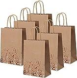 TIANLE 12 Bolsas de Papel Bronceado para Fiestas, Bolsa de Oro Rosa Kraft, Bolsa de Regalo de cumpleaños para Novia, celebración de Boda, Favor de Fiesta