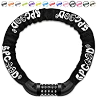 SPGOOD Bike Locks Heavy Duty/Bicycle Chain/Cycling Lock (14 Colors) 5-Digits Codes Resettable 100,00...