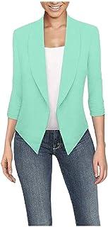 XINHEO Women Oversized Cardigan Asymmetrical Solid-Colored Blazer Jacket