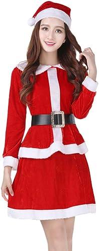 presentando toda la última moda de la calle CVCCV Traje de Navidad para Adultos Traje Traje Traje de Baile Disfraz Dorado Tela de Terciopelo para mujeres (rojo)  comprar mejor