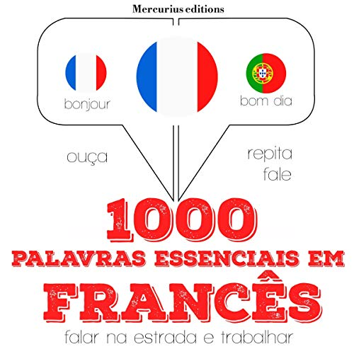 Diseño de la portada del título 1000 palavras essenciais em francês