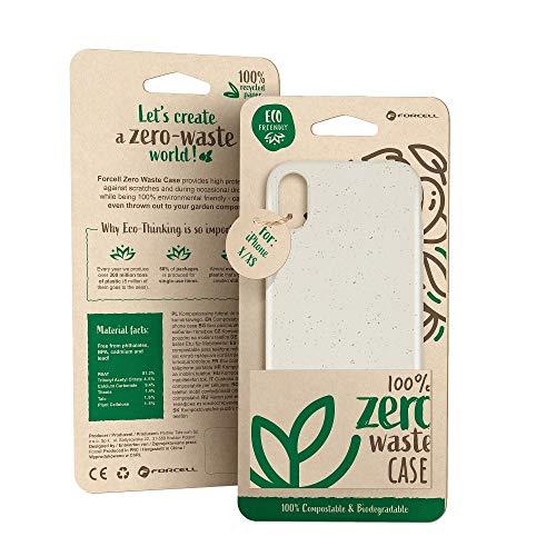 Forcell beschermhoes voor de achterkant, 100% milieuvriendelijk en composteerbaar. Geen resten. Gemaakt van natuurlijke planten en producten voor Xiaomi Redmi Note 7, wit.