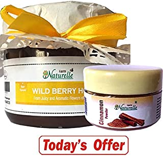 Farm Naturelle-1 Wild Berry-Sidr Forest Honey (400 Gms) With Cinnamon Powder Pack Worth Rs.69/- The Finest 100% Pure Raw Natural Honey Unprocessed Honey