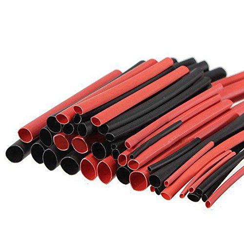 Dealit Guaine Termorestringenti Tubo Termorestringente per Cavi Elettrici Tubo termoretraibile Car Electrical Wire Tubing (2 Colori 6 Taglia)