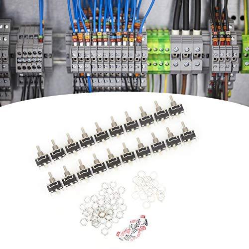 Interruptores, interruptor de palanca BERM Interruptor de palanca de 3 pines Mini interruptor de palanca para montaje en panel para control industrial