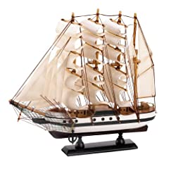 Awe-inspiring replica of the legendary Passat sailing ships Creatively crafted from wood and cotton Amazing detailing gives it a lifelike appearance Fantastic mantel or tabletop decoration Any nautical collector or seaman will treasure this gift