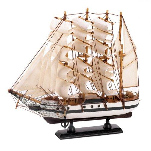 Gifts & Decor Passat hoch Schiff Detaillierte Holz Modell Maritimes Dekor