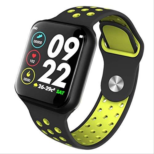 Zholmei Praktisch smarthorloge dames heren fitness tracker hartslagmeter armband sport smartwatch Pk Iow8 11 12 Apple-horloge voor iOS Android (kleur: F8 zwart)