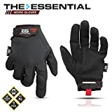 Glove Station The Essential Series Tactical Black Covert Gloves For Mechanic Utility Work