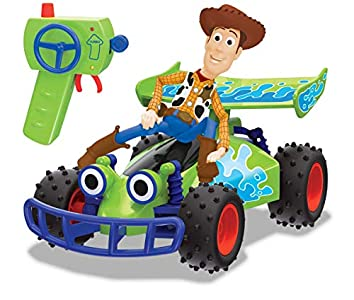 Dickie- Toy Story 4 – Mando a Distancia Buggy con Woody, 1:24, 20 cm, Color Verde, 201134005