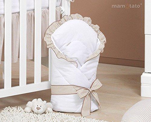 Parure de lit 14 pièces marron et blanc bébé linge de lit gigoteuse nid d'ange tour de lit...