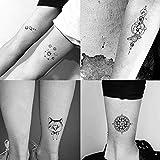 MXEHC Tatuaje 30 unids/Set Pegatinas Temporales Tótem Geométrico Planeta Tatuaje Black Triángulo Tatuaje Brazo Cuerpo Impermeable para Hombres Y Mujeres Mangas de Tatuaje