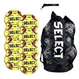 SELECT Numero 10 Soccer Ball, 8-Ball Team Pack, Yellow/Orange, Size 5