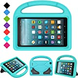 Kids Case for All-New Fire 7 2019/2017 - TIRIN Light Weight Shock Proof Handle Kid–Proof Cover Kids Case for Amazon Fire 7 Tablet (9th/ 7th/ 5th Gen, 2019/2017/ 2015 Release)(7' Display), Turquoise