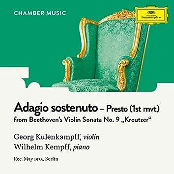 """Beethoven: Violin Sonata No. 9 in A Major, Op. 47 """"Kreutzer"""": 1. Adagio sostenuto - Presto"""