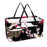 La bolsa de asas reutilizable del supermercado, la cesta de compras grande, el bolso del almacenamiento 50L grúa la flor de cerezo de Sakura