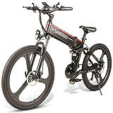 Not application Bicicletas Electricas Plegables,350W Motor Bicicleta Plegable 35 km/, Bici Electricas Adulto con Ruedas de 26', Batería48V 10Ah, Asiento AjustableA Black