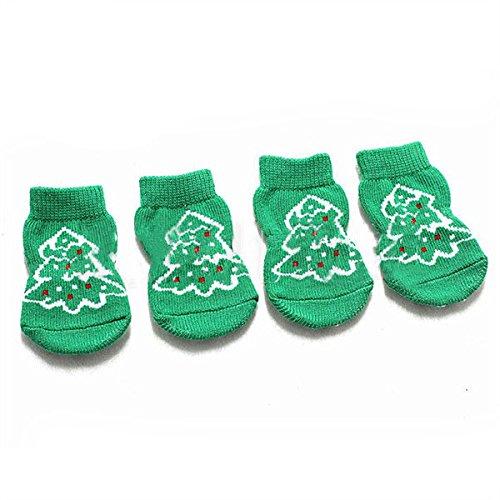 Bazaar kerstboompatroon huisdier hond sokken anti-slip kerstsokken