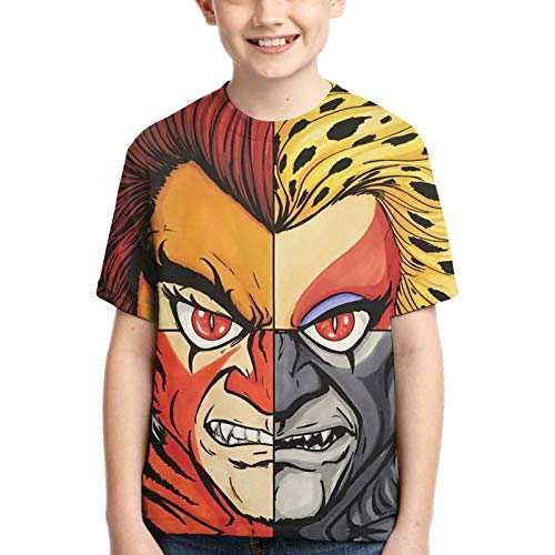 LJSJISDMWQS Thundercats - Camiseta de manga corta para niños, cuello redondo, súper suave, cuello redondo, camiseta clásica