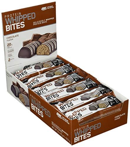Optimum Nutrition | Protein Whipped Bites Bar | Met 20 g eiwit | Bevat wei-isolaten | Zonder toegevoegde suikers | 12 x 76 g
