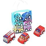 Mnouom 12Pc Niños 'S Coche de juguete para niños' S Simulación Remolque educativo Juguete Camión Niños Traje de carreras Coche de juguete(A)