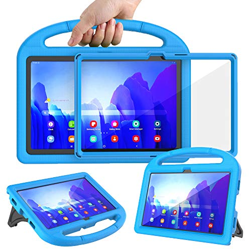 Surom Kids Case with Built-in Screen Protector for Samsung Galaxy Tab A7 10.4' 2020 (Model SM-T500/T505/T507), Light Weight Shockproof Handle Stand Protective Case for Tab A7 10.4 Inch 2020, Blue