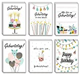 the lazy panda card company 48er Set: Geburtstagskarten Glückwunschkarte Kinder Kindergeburtstag Klappkarten mit 48 Umschlägen