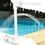 Swimming Pool Spa Waterfall Pool Fountain Spray Water Accessories Fun Sprinklers for Above Inground Pools Backyard Outdoor Decor, Adjustable Pool Aerator Cool Warm Water Temperatures