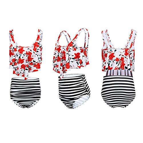 Costume da Bagno Donna Push Up Reggiseno Nuoto Donna Bikini Donna Mare Push Up Bikini Donna Brasiliana Due Pezzi Bathing Tus Top Arruffato con High Waisted Bottom Bikini Set
