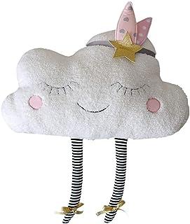NorCWulT Amortiguador de la Almohadilla Adorable Nube Almohada Felpa Linda Nube cojín en Forma de Nube Decorativo Almohadilla de Tiro para los niños Regalo la decoración del hogar