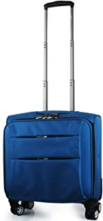 Trolley Case Super Lightweight 4 Wheel Spinner Carry On Cabin Hand Luggage Suitcase Travel Trolley Flight Bag Case, Approved for Most Airlines Travel Luggage Carry-Ons (Color : Blue)