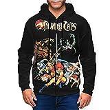 Thundercats Men's Long Sleeve Fashion Sports Full Zip Hoodie Sweatshirt Top L Black